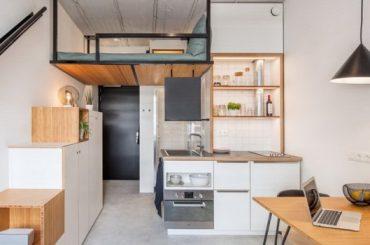 Sredili su stan od 18 kvadrata, a izgleda kao da ima 50: Rerna je na skrivenom mjestu, a stepenice vas vode u zen (Foto)