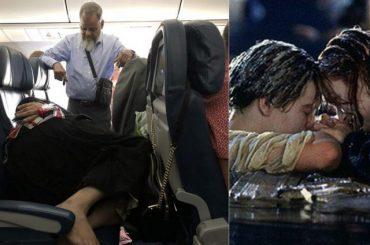 Gospođa se ispružila: Muž stojao šest sati u avionu, dok je ona ležala preko tri sjedišta